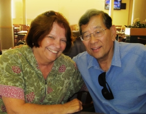 Wayne Maeda (right) and his wife Lorrie Toohey-Maeda (left), both were Sacramento scholars -- he at Sacramento State, she at Sacramento City College -- died within three days of each other last week, both succumbing to cancer.
